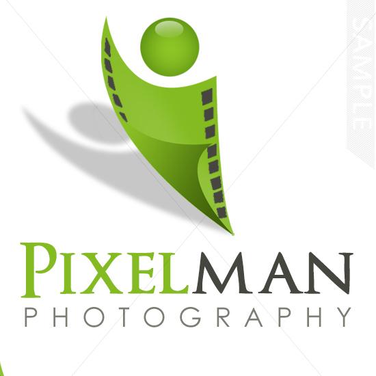 Pixel Man Logo Design