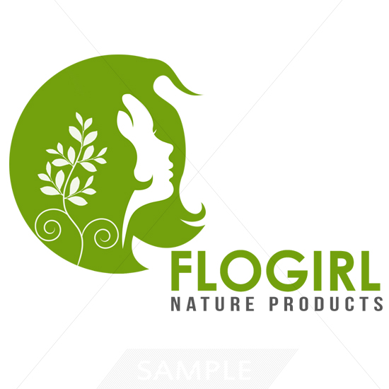 Girl Hair Logo Design