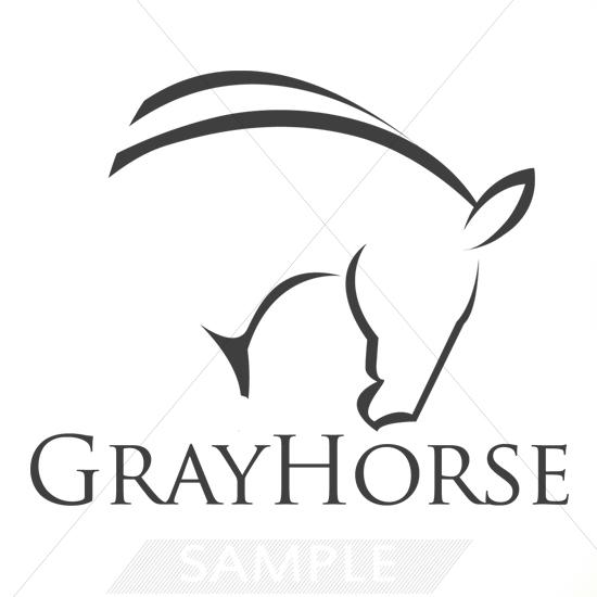 Gray Horse Logo Design