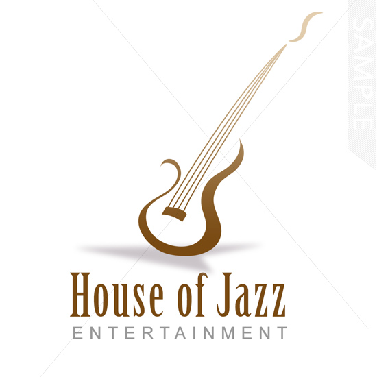 Jazz Guitar Logo Design