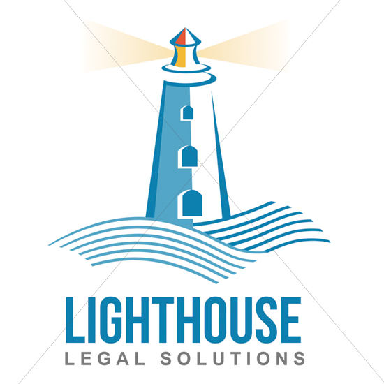 Lighthouse Wave Logo Design
