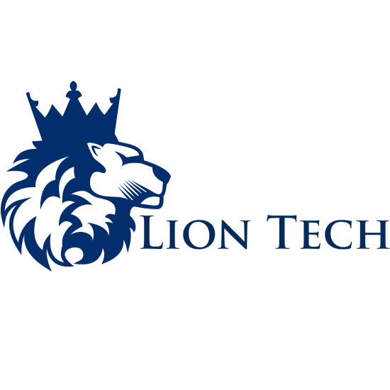 Blue lion logo with crown - photo#16