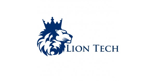 Blue lion logo with crown - photo#47