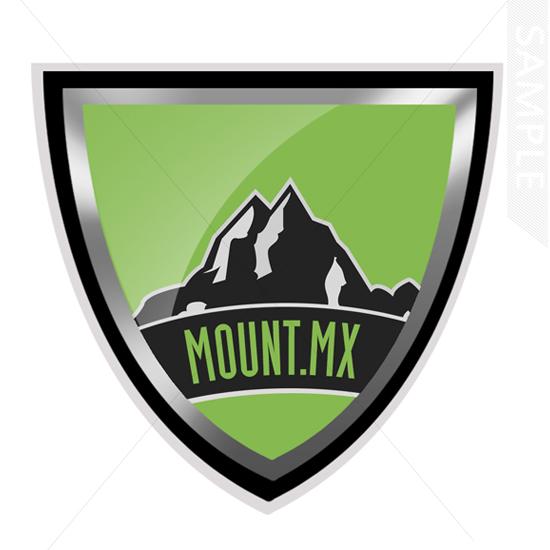 mountain shield logo design