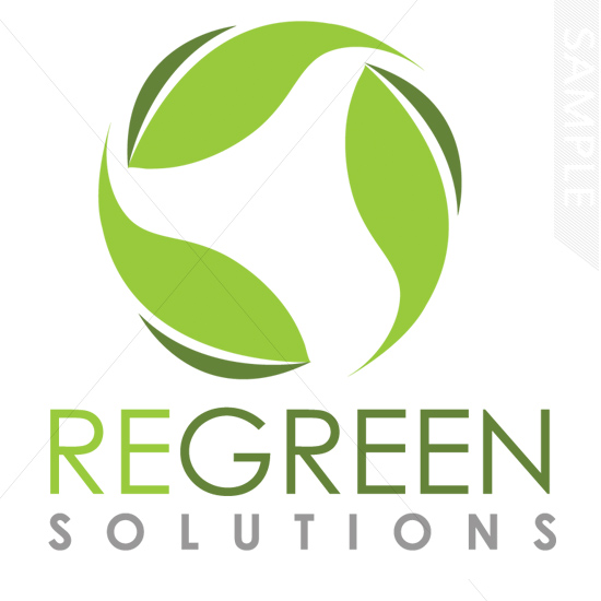Recycle Leaves Logo Design