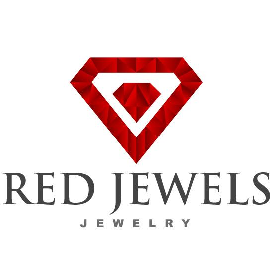 red jewels jewelery logo design