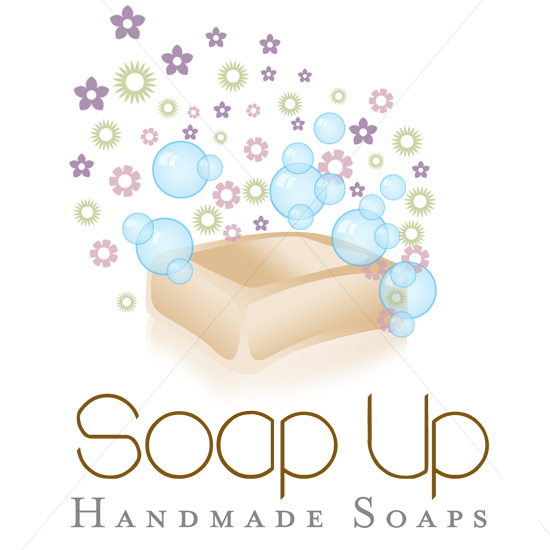 soap up logo design