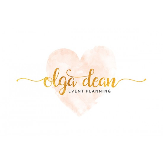 Heart Watercolor Logo Design