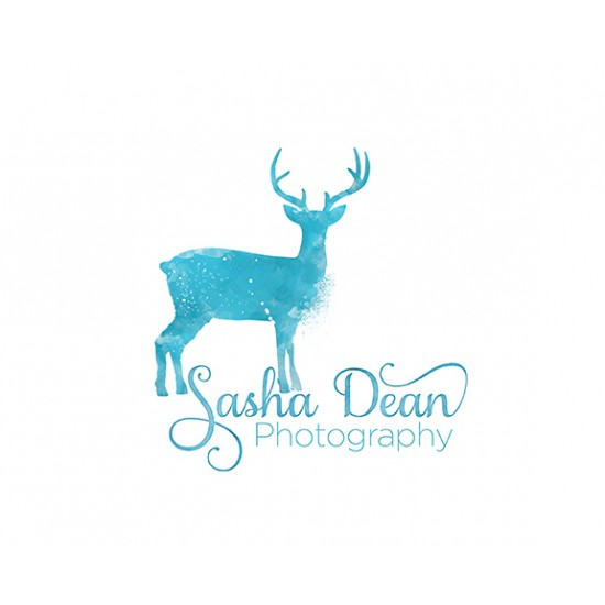 Deer Watercolor Logo Design